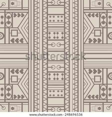 Seamless geometric background. Hand drawn pattern, line artwork. Can be used for card design, wallpaper, pattern fills, web page background, surface textures - stock vector