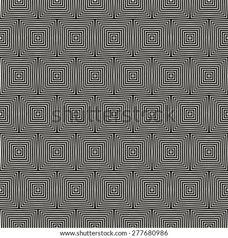 Seamless geometric black and gray optical illusion pattern. Seamless pattern in black and gray. Abstract geometric background.