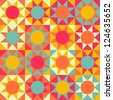 Seamless geometric Ethnic pattern background - stock