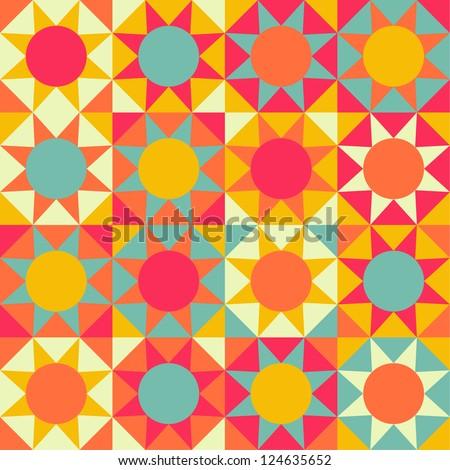 Seamless geometric Ethnic pattern background - stock vector