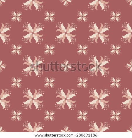 Seamless geometric floral pattern. Use the finishing press, invitations, brochures, presentations, for the background of the site.
