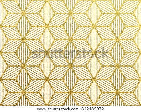 Seamless geometric gold glittering seamless pattern on white background. - stock vector