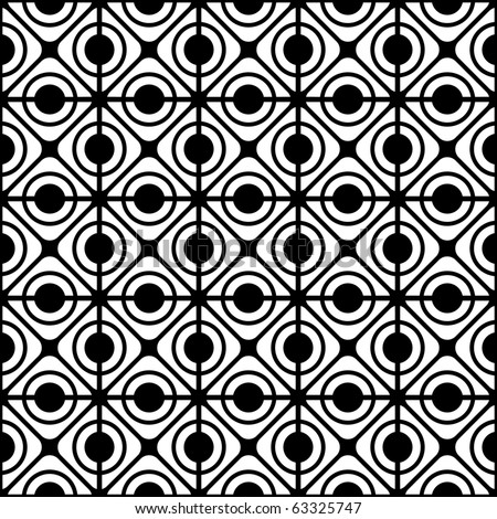 Seamless geometric lattice pattern. Vector art. - stock vector
