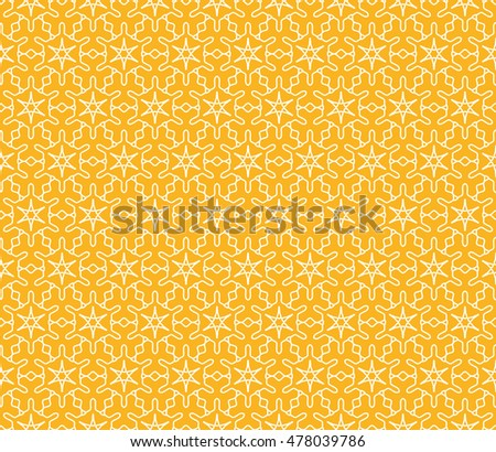 Seamless geometric line pattern. Contemporary graphic design. Endless hexagon texture for wallpaper, pattern fills, web page background. Tribal ethnic arabic indian ornament. Yellow, gold and white