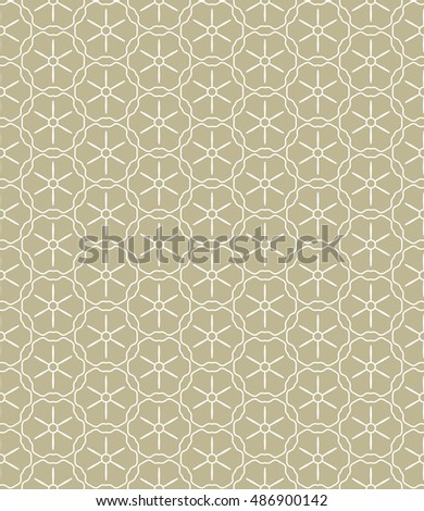 Seamless geometric line pattern in arabian style, ethnic ornament. Endless hexagonal texture for wallpaper, banners, invitation cards. Monochrome graphic lace background