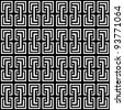 Seamless geometric op art pattern. Vector illustration. - stock vector