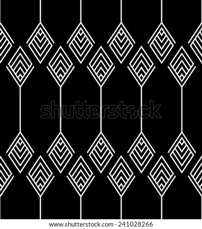 Seamless geometric pattern background - stock vector