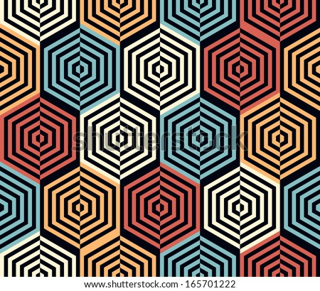 Seamless geometric pattern background. Vector art. - stock vector