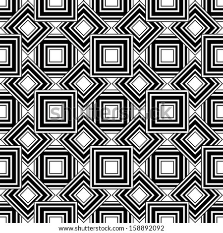 Seamless geometric pattern, black and white simple vector background, accurate, editable and useful background for design or wallpaper. - stock vector