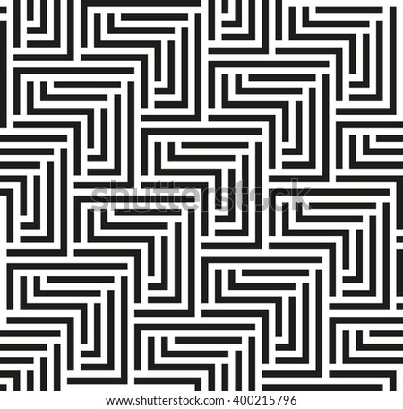 Seamless geometric pattern by black stripes. Modern vector background with repeating lines