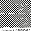Seamless geometric pattern by stripes. Modern vector background with repeating lines. Black and white wallpaper - stock vector