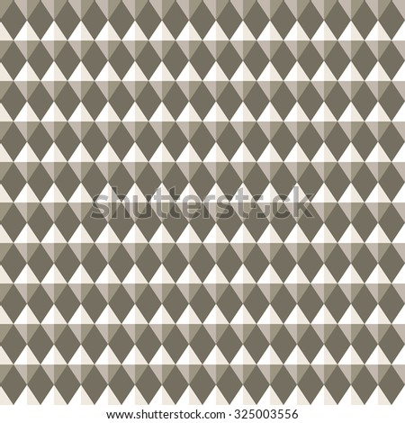 Seamless geometric pattern. Carbon texture. Rhombus convex shine light figures on gray background. Silver colored. Vector  - stock vector