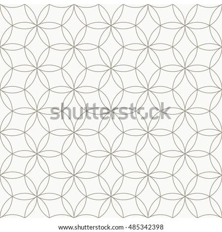 Seamless Geometric Pattern Circle Pattern Line Stock