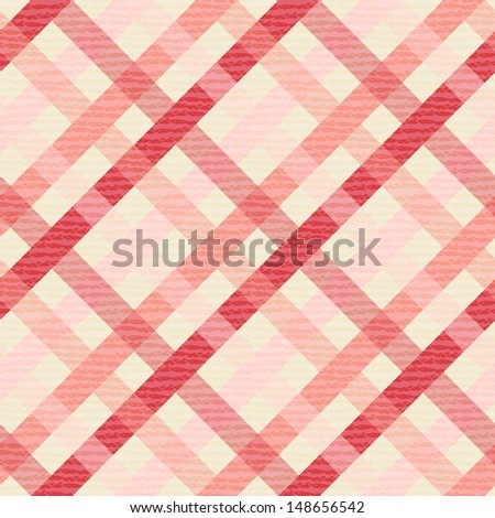 Seamless geometric pattern. Diagonal checkered texture. Vector print of textured paper - stock vector