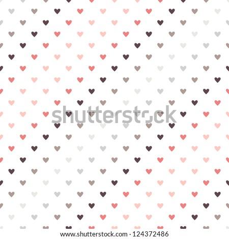 Seamless geometric pattern. Diagonal hearts. vector repeating texture - stock vector