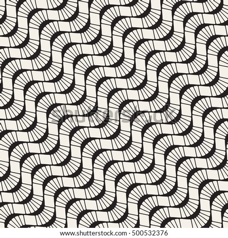Seamless geometric pattern. Diagonal wavy stripes. Vector repeating texture with smooth elements.
