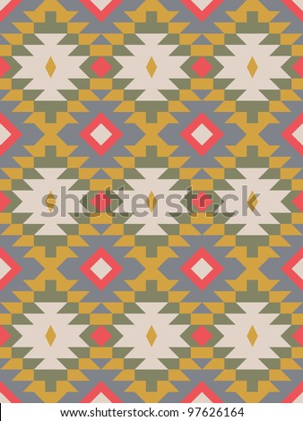 Seamless geometric pattern in african style