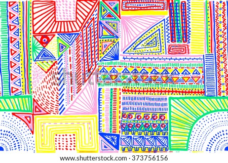 Seamless geometric pattern in aztec style. Tribal ethnic texture.