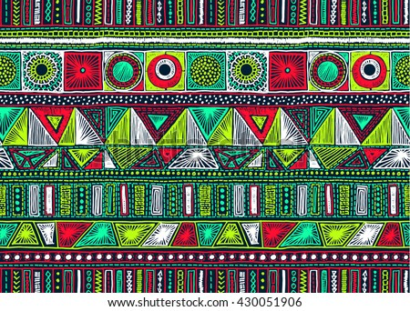 Seamless geometric pattern in aztec style. Tribal ethnic vector texture. Figure tribal embroidery. Indian, Mexican, folk pattern.