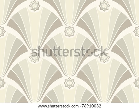 Seamless geometric pattern in light colors - stock vector
