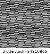 Seamless geometric pattern in op art design. Vector art. - stock photo