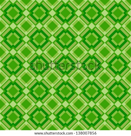 Seamless geometric pattern in retro style. Can be used to fabric design, wallpaper, decorative paper, scrapbook albums, web design, etc. Swatches of seamless pattern included in the file.