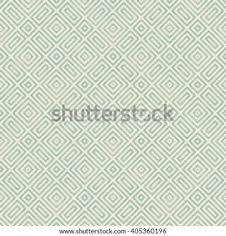 Seamless geometric pattern in turquoise and beige on texture background. Ethnic pattern. Can be used for ceramic tile, wallpaper, linoleum, surface textures, web page background. - stock vector
