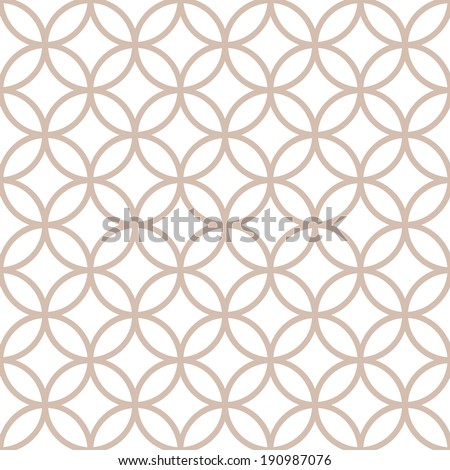 Seamless geometric pattern of circles on a white background - stock vector