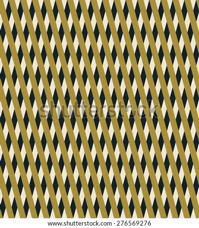 seamless geometric pattern of overlapping stripes in art deco style. each detail in separate layer. - stock vector
