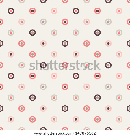 Seamless geometric pattern. Polka dot in pastel tones. Vector repeating texture - stock vector