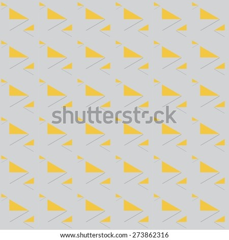 Seamless geometric pattern. Triangle pattern background. - stock vector