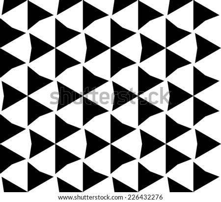 Seamless geometric pattern, vector  - stock vector