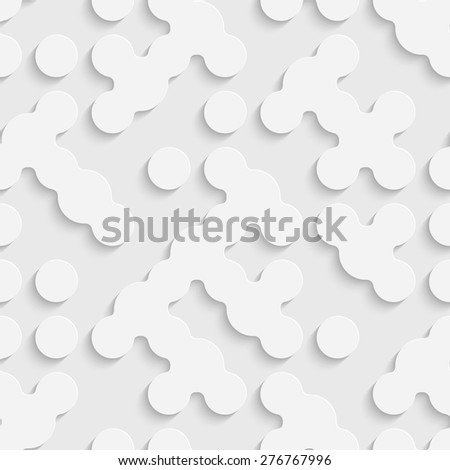 Seamless Geometric Pattern. Vector Soft Background. Regular White Texture - stock vector