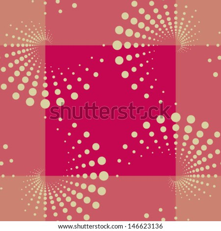 Seamless geometric pattern with dots. Can be used in textiles, for book design, website background.  - stock vector