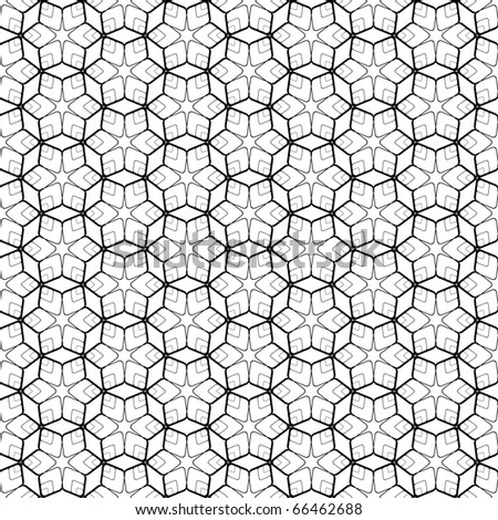 Seamless geometric pattern with hexagonal elements. Vector art. - stock vector