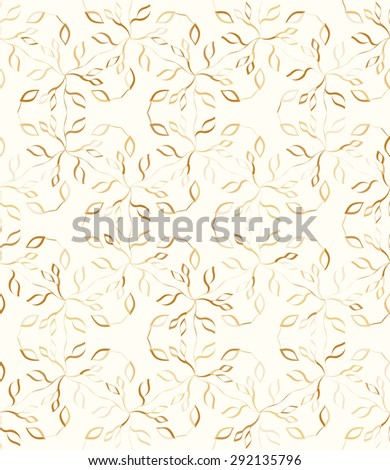 Seamless geometric pattern with monochrome small flowers and leaves. Vector background with floral print. - stock vector