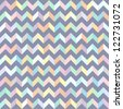 Seamless geometric pattern with pastel colors zigzags. Vector illustration - stock vector