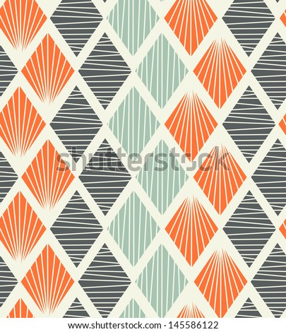 Seamless geometric pattern with rhombus. Decorative abstract background - stock vector