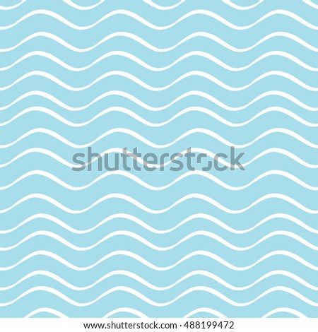 Seamless geometric pattern with wavy lines.