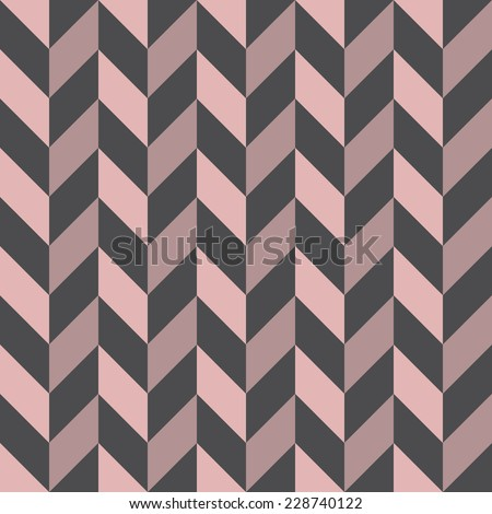 Seamless geometric pattern with zigzags. - stock vector