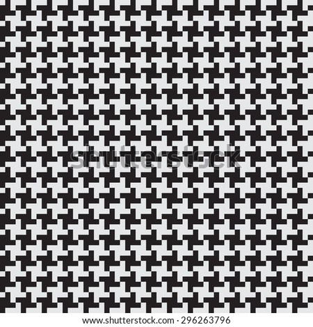 Seamless geometric patterns in black and white. Simple, regular background Vector illustration looks like a gear or wind turbines. - stock vector