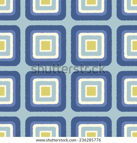seamless geometric square shape pattern - stock vector