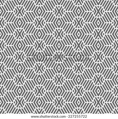 Seamless geometric texture. Hexagons pattern. Vector art. - stock vector