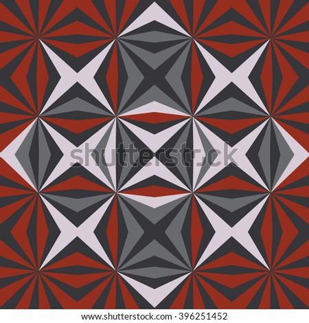 Seamless geometric tile pattern background - stock vector