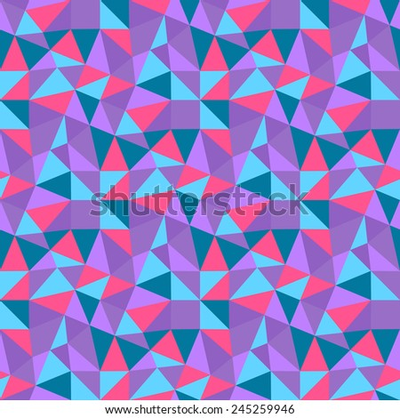 Seamless geometric triangles background. Mosaic. Abstract vector illustration.  Can be used for wallpaper, web page background, book cover. - stock vector