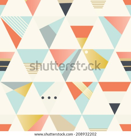 Seamless geometric vector pattern.  - stock vector