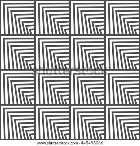 Seamless geometric vector pattern. Black and white color