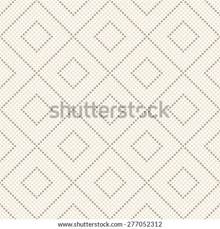 Seamless geometrical pattern. Repeating tiles with dotted rhombus. Vector illustration. - stock vector