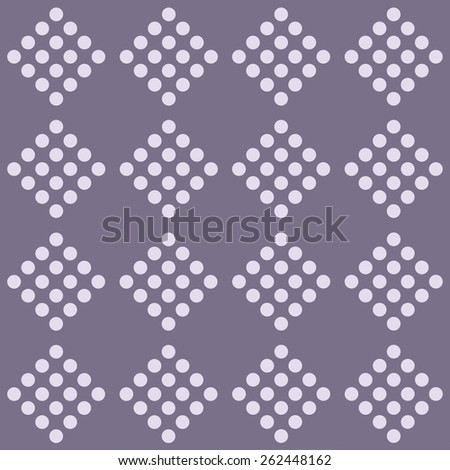 Seamless geometrical pattern with circles on a plum background. Vector illustration. - stock vector