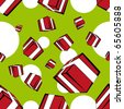 Seamless gift box pattern - stock vector